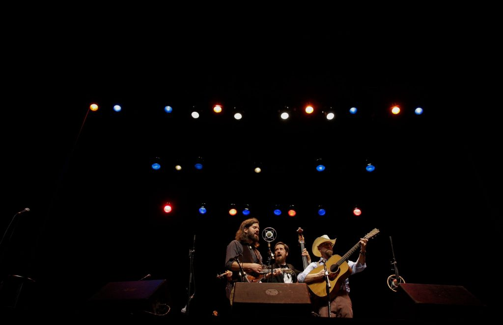 The Misty Mountain String Band performs at the first Live Lost River Music Session at the Capitol Arts Center on September 15th, 2016. This Lost River Music Session hosted a variety of folk-genres for a packed crowd, such as Bluegrass and Americana.